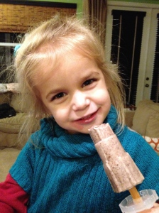 Adorable with chocolate coconut popsicle