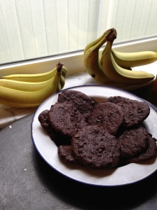 Chewy Chocolate Cookie with bananas